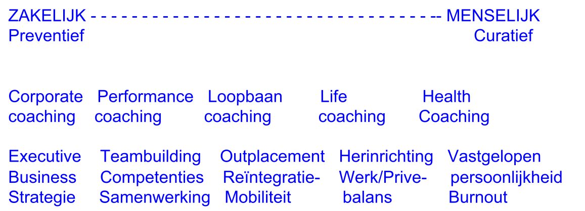 Domeinen van coaching