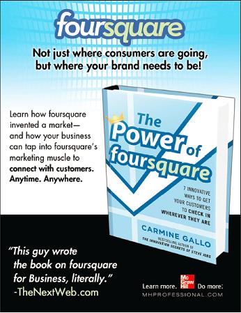 Foursquare Book Advertisement