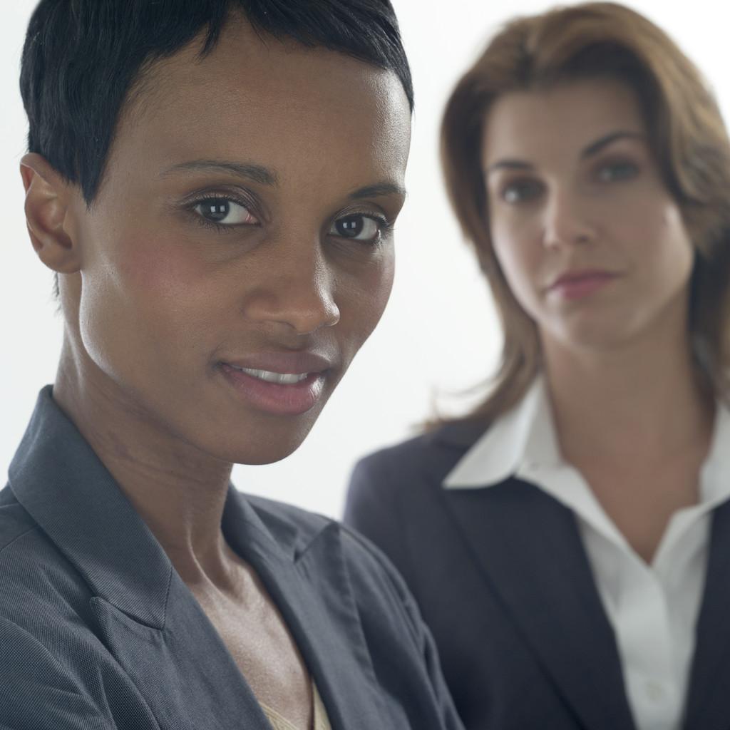 Photo of two businesswomen