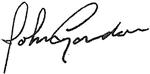 Signature de John Gordon