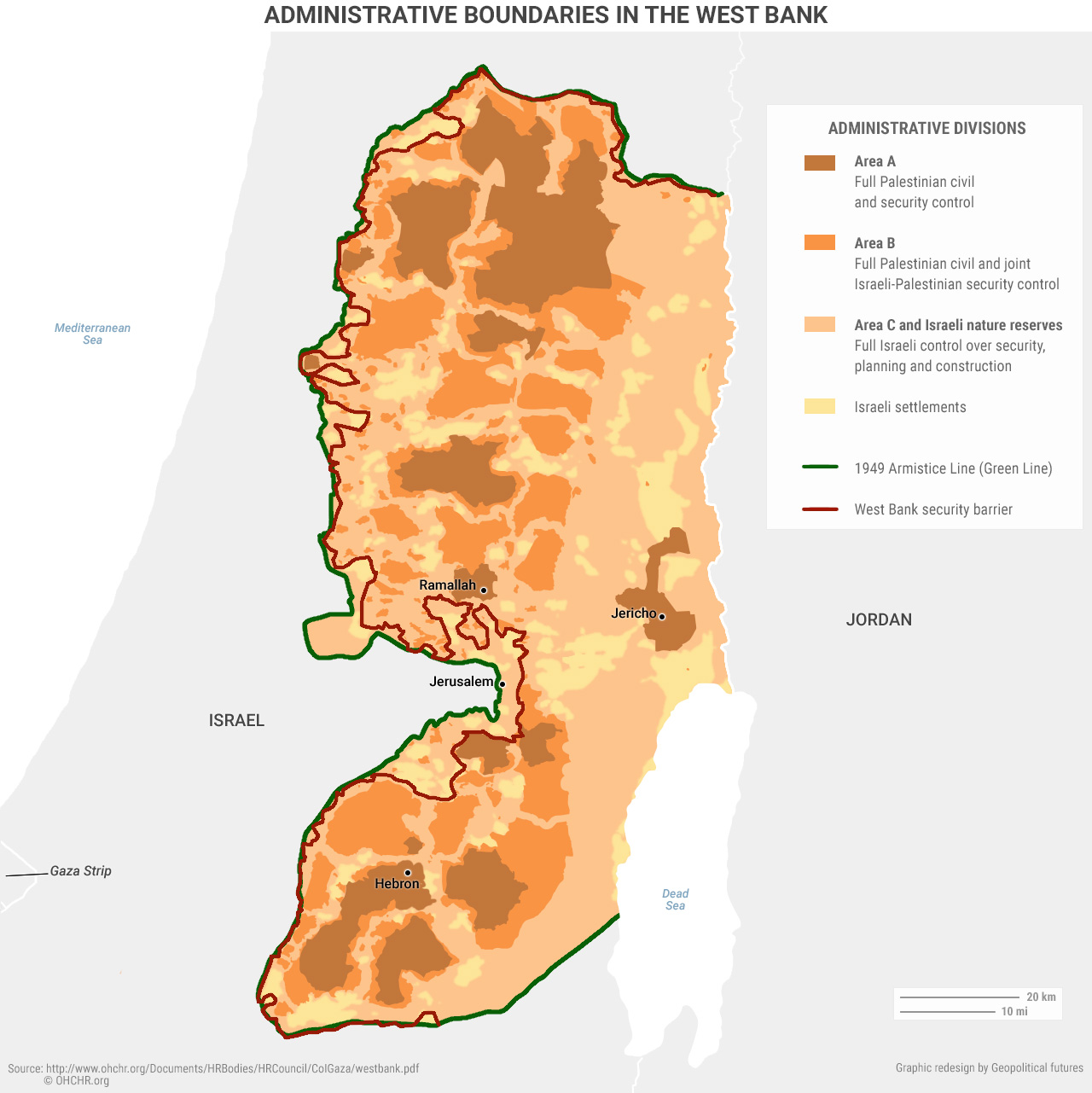 Administrative Boundaries in the West Bank