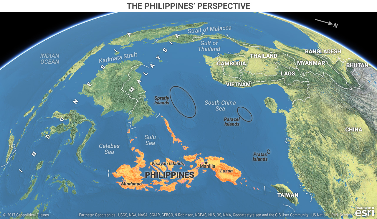 Philippines Perspective map