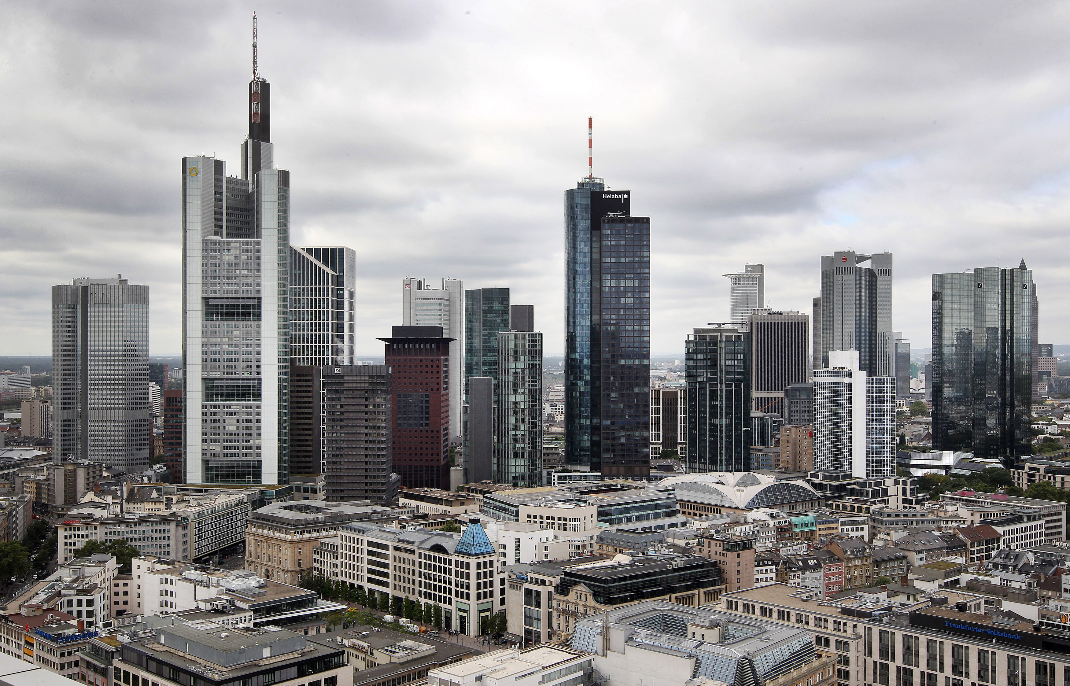 The skyline of Frankfurt am Main, Germany's financial hub, is pictured on Aug. 22, 2016. DANIEL ROLAND/AFP/Getty Images