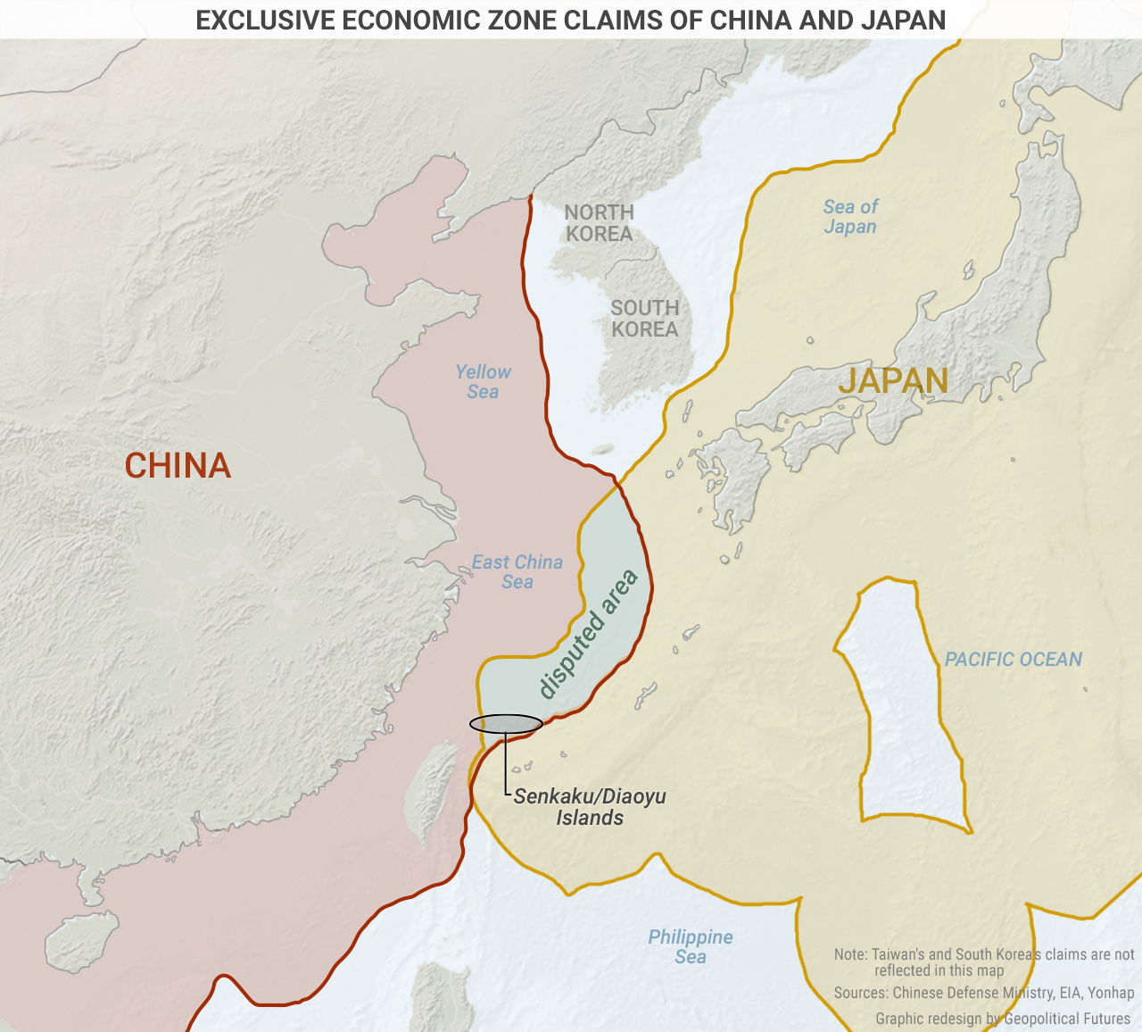Exclusive Economic Zone Claims of China and Japan