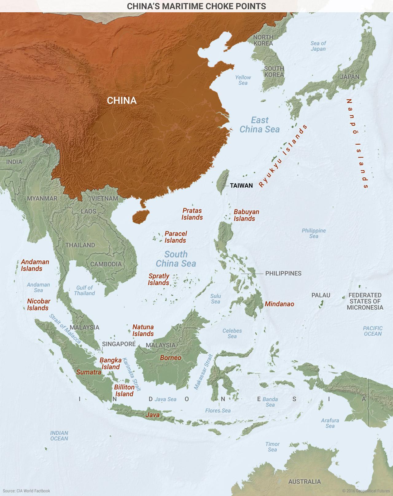 China's Maritime Choke Points