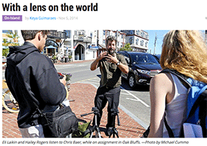 With a lens on the world, article