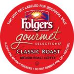 Folgers gourmet classic roast K-Cup lid