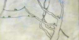 "Detalhe da encáustica ""High Five"" de Cecile Chong"