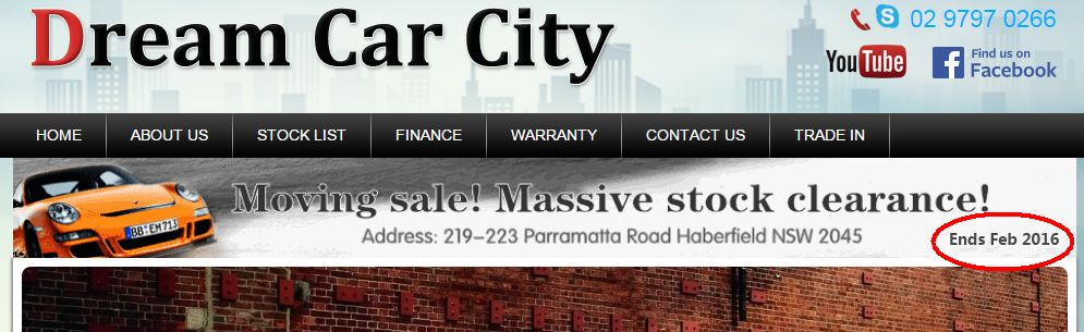 Police Raids on Sydney Dealers Dream Car City website