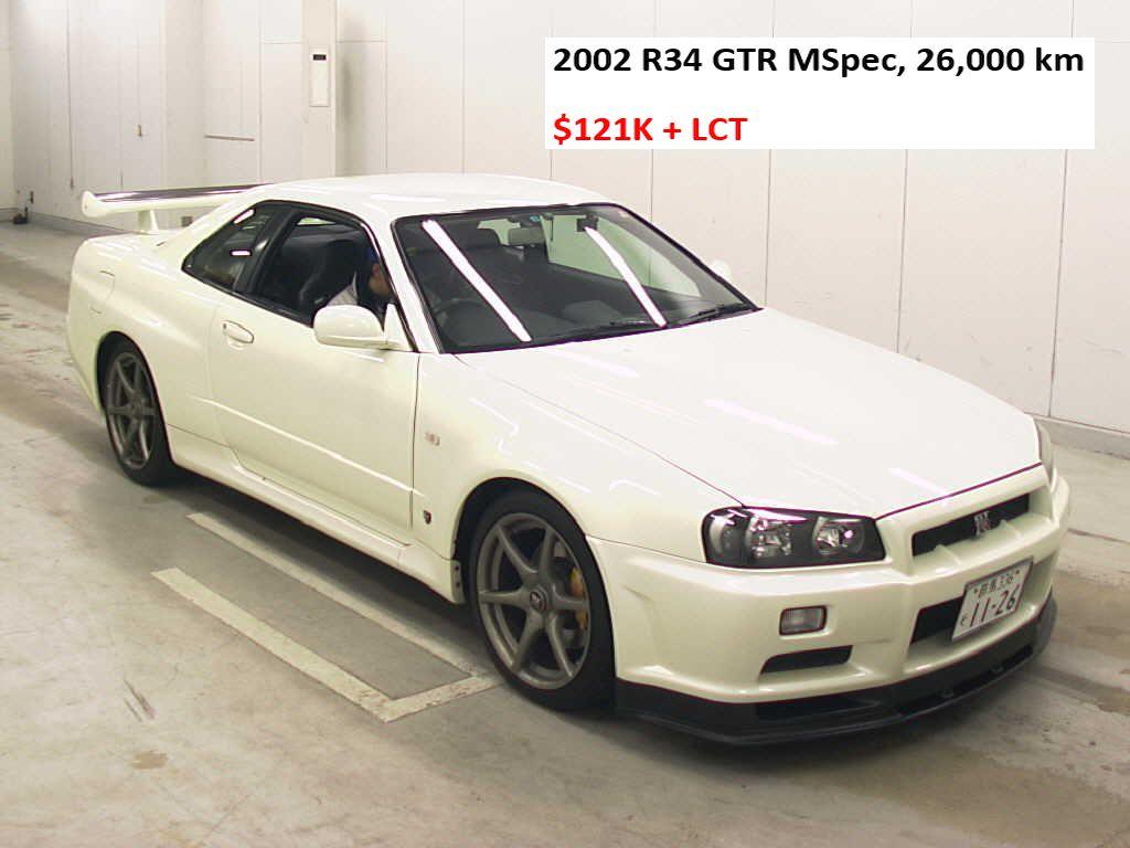 2002 R34 GTR M Spec white