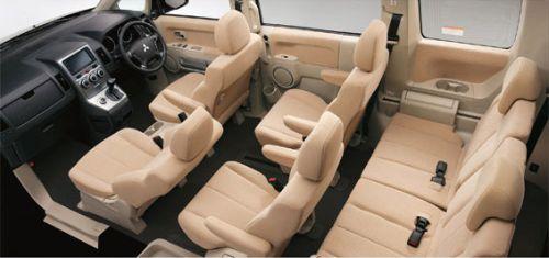 Mitsubishi Delica D5 interior cutaway