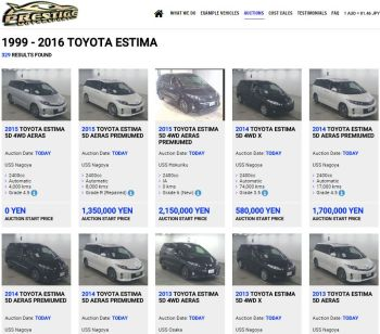 Toyota Estima at Japan Auctions