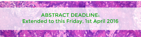 ABSTRACT DEADLINE: Extended to Fri 1st April 2016
