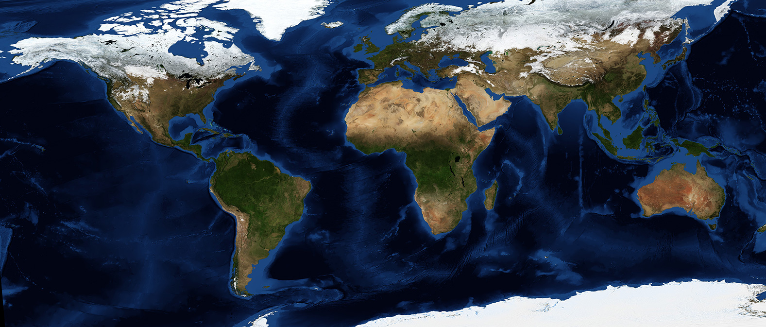 Satellite image of the Earth