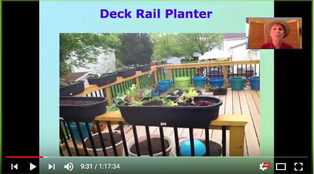Small Space edible gardening webinar