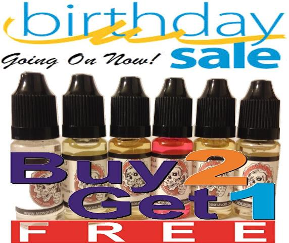 Birthday Sale Buy 2 Get 1 Free