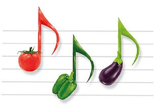 Note Vegetable, Music, Rhythm, Sketch&Type Poster, Illustrations ...