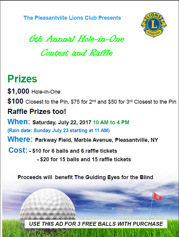Lions Club Golf Outing Flyer