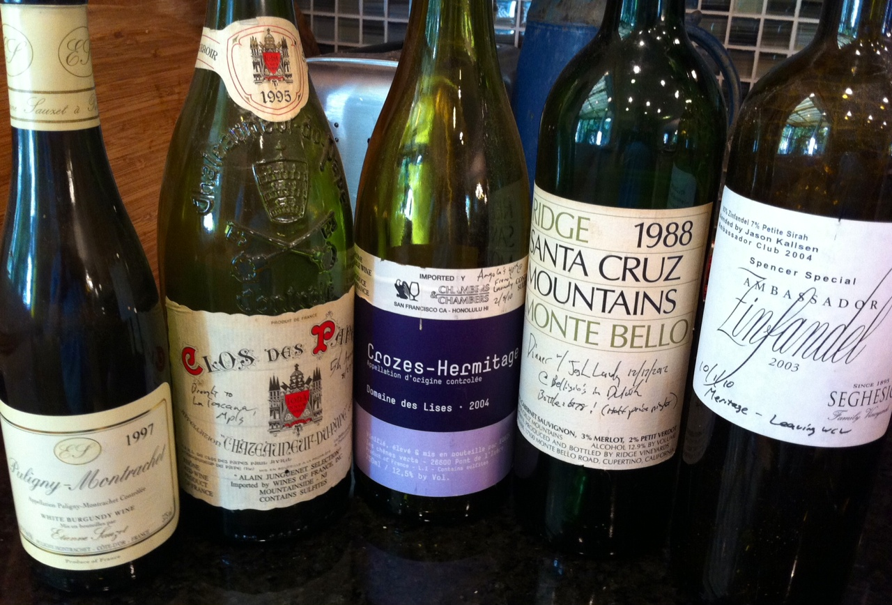 The five best wines I've ever had