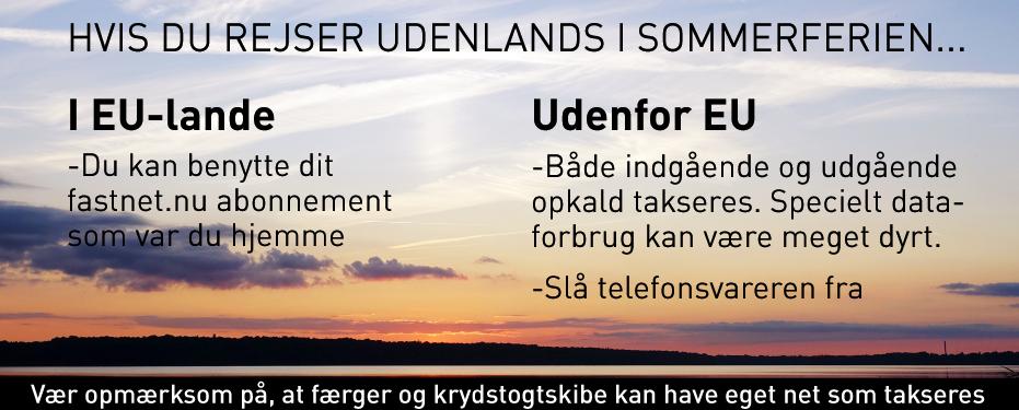 Telefoni i udlandet med Fastnet.nu