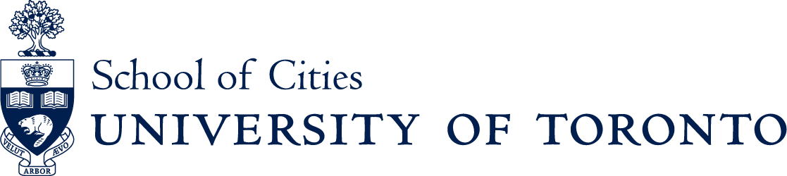 Crest and wordmark for University of Toronto School of Cities