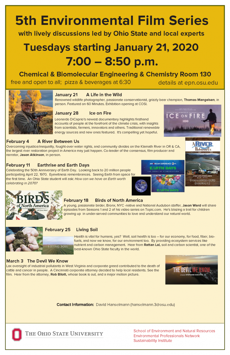 OSU Environmental Film Series Winter 2020