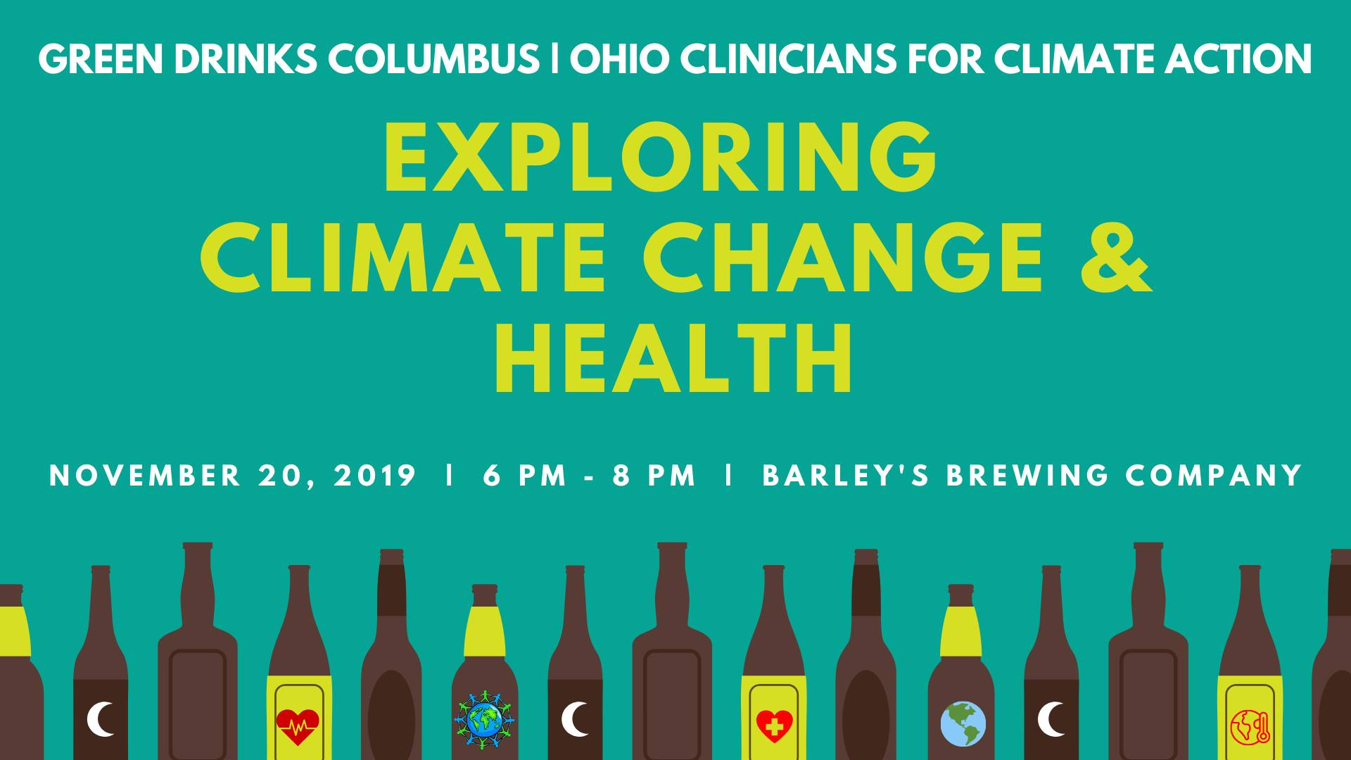 Green Drinks Flyer climate change and health