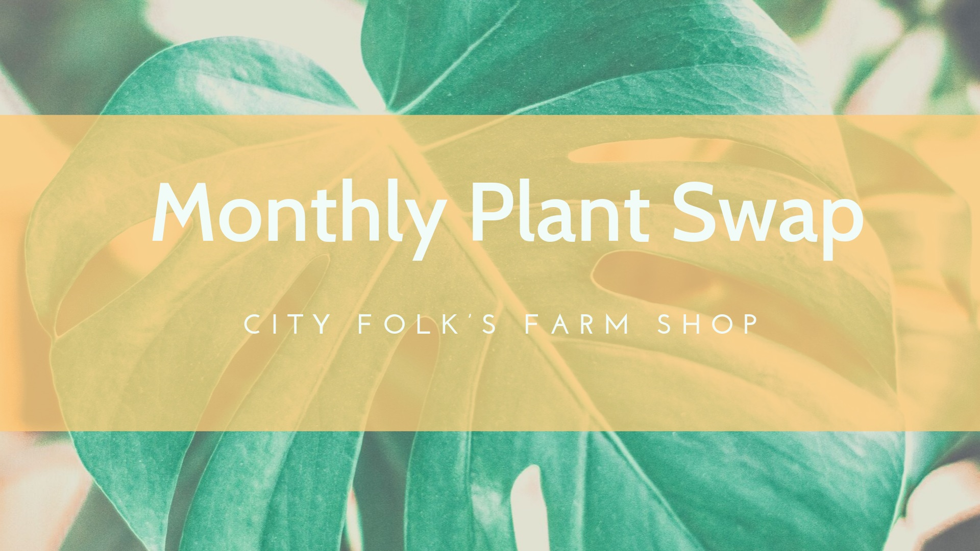 Monthly Plant Swap poster