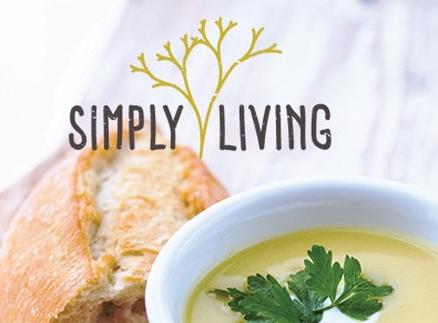 Simply Living bread and soup image
