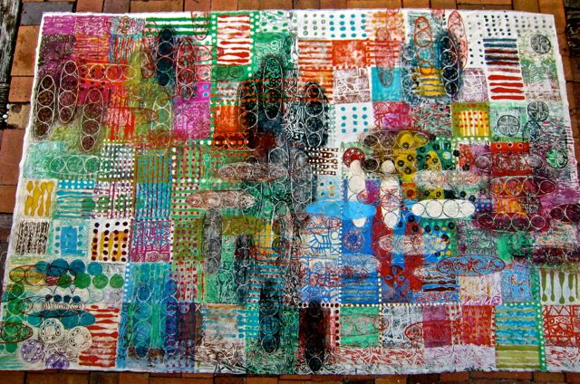 """click to read post on the painted """"tapa' cloth!"""