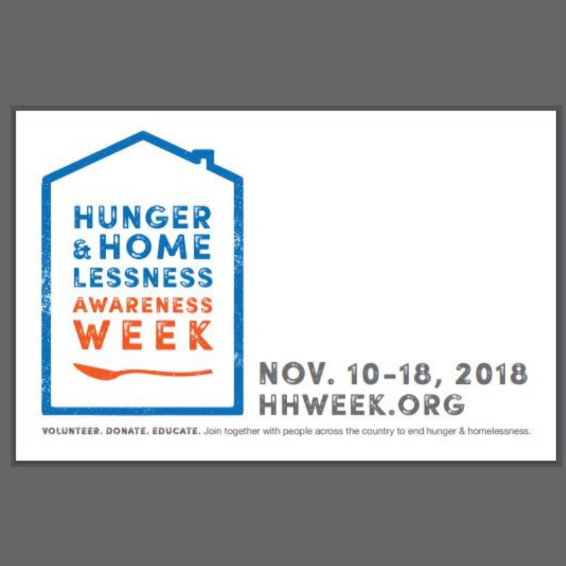 Hunger & Homelessness Week
