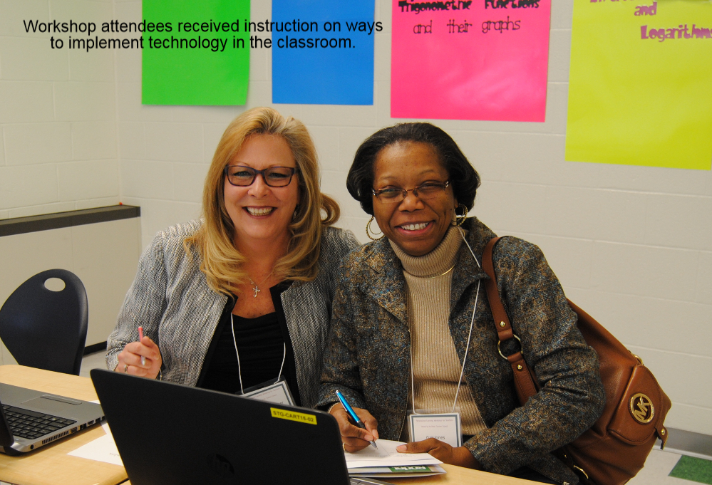 Workshop attendees received instruction on ways to implement technology in the classroom.