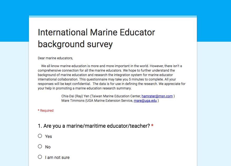 International ocean literacy survey