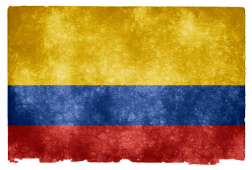 Colombia Grunge Flag by Nicolas Raymond