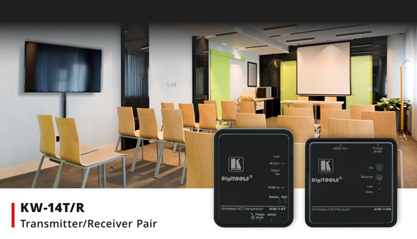 KW-14 HDMI Transmitter/Receiver Pair for Presentation and Multimedia Environments