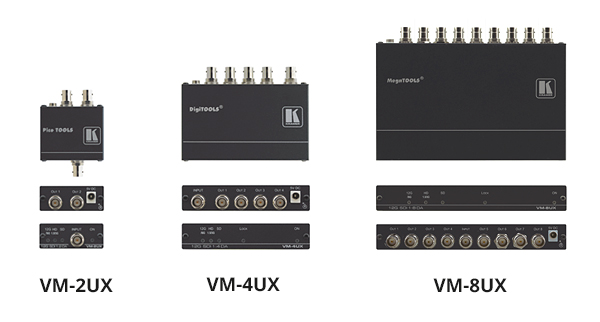 VM-2UX, VM-4UX, VM-8UX 12G-SDI Distribution Amplifiers