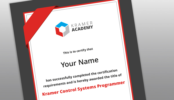 Kramer Control Online Training & Certification
