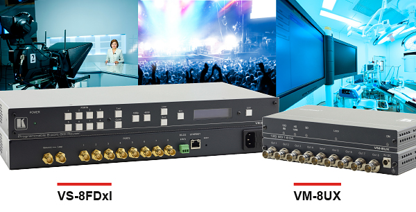 VM-UX Distribution Amplifier Series & VS-8FDxl DA/Switcher/Matrix All-in-One