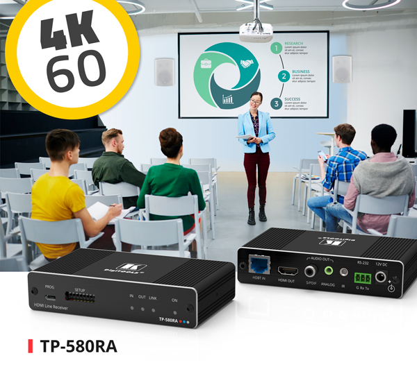 TP-580RA 4K60 4:2:0 HDBaseT Receiver with Smart Audio Extraction
