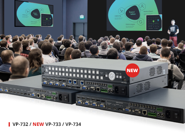 VP-732, VP-733, VP-734 Ultra-Smooth 4K Scaling & Switching
