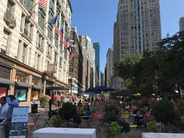 Broadway at 34th Street on Aug. 19.