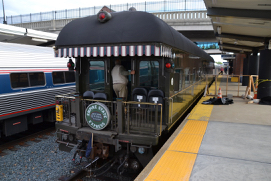 The private business car New York Central 3 at Albany-Rensselaer station.