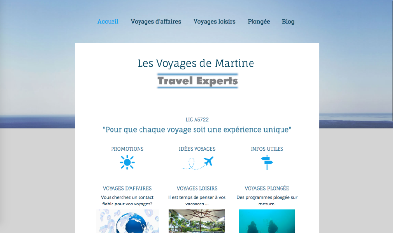 Martine Gillet, Travel Expert