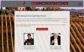 Le site de la Cantina Vicini