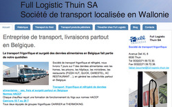 Le site de Full Logistic Thuin