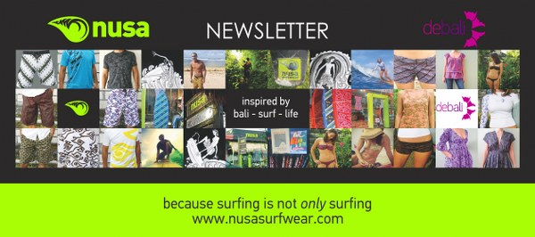 nusa and debali newsletter subscription form
