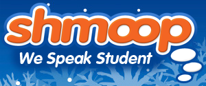 """The Shmoop Logo and mission statement says """"we speak student"""" Photo Credit: (http://www.sbschools)"""
