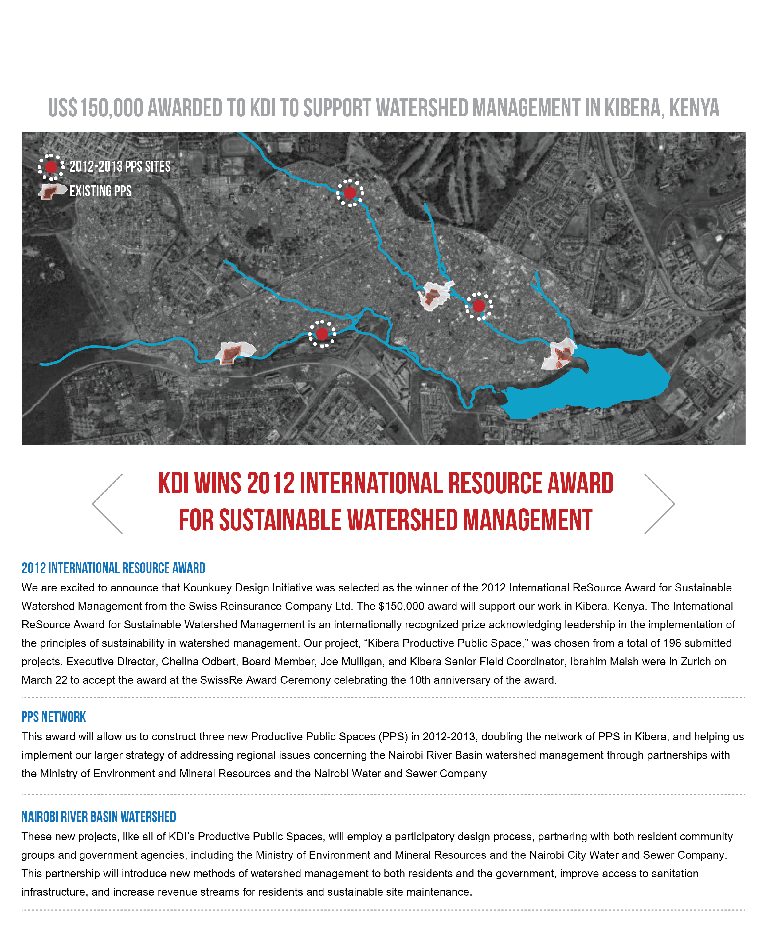 KDI Wins 2012 International Resource Award for Sustainable Watershed Management