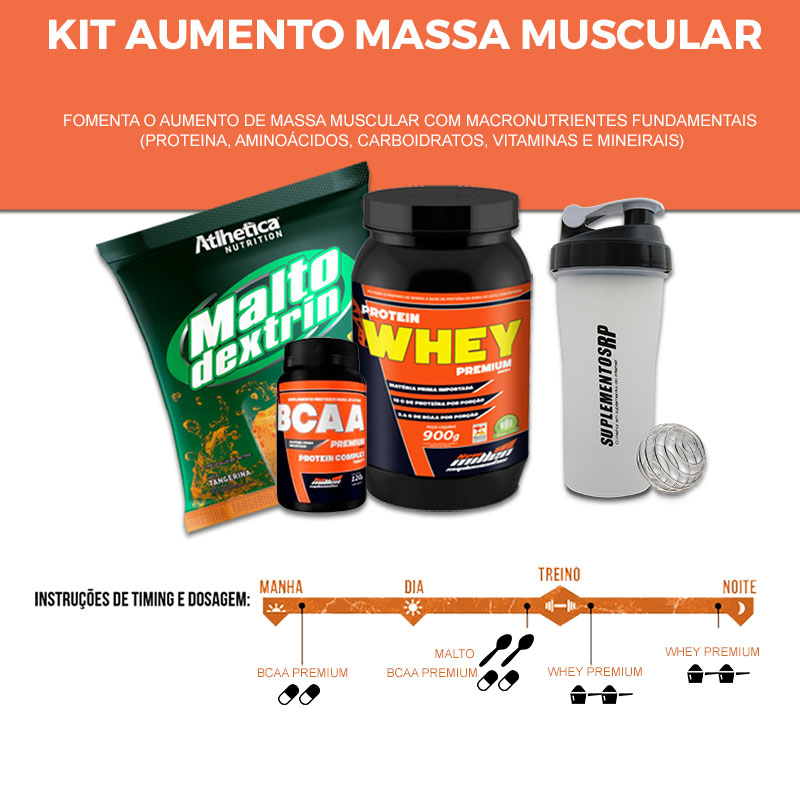 kit  aumento de massa muscular