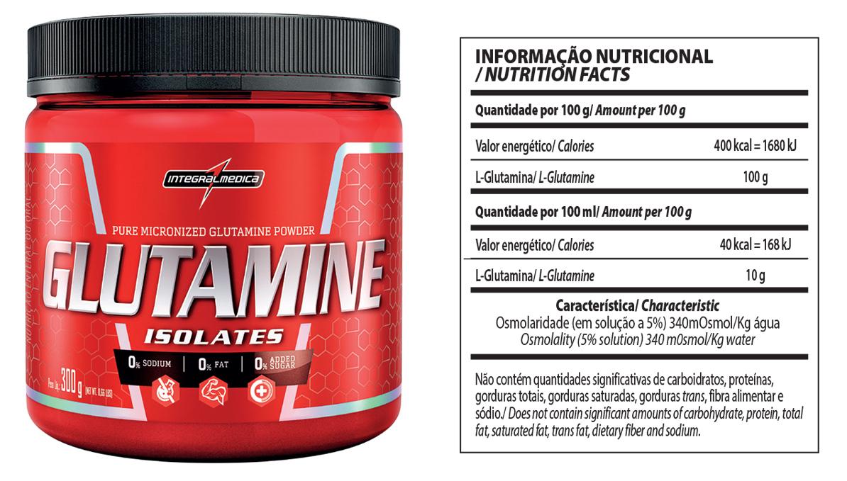 glutamina 300g integralmedica